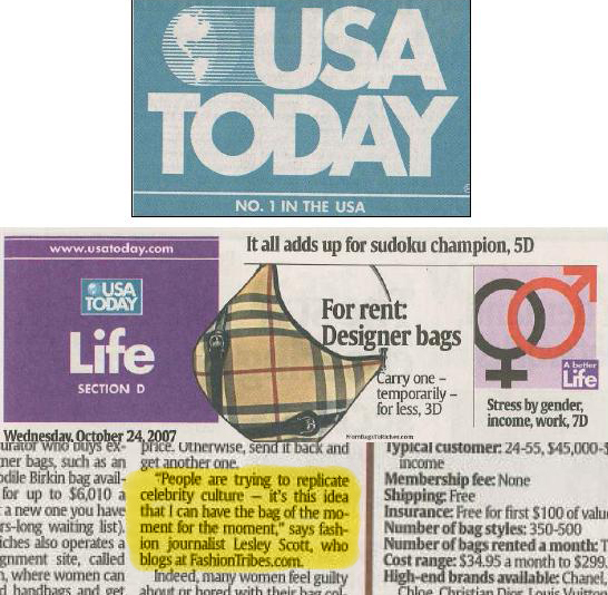 Fashiontribes in USA Today
