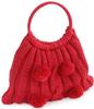 Red Handknit Bag Purse