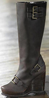 Military Influenced Wedge Boots