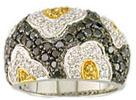Black & Yellow Diamond Ring Jewelry Jewellery