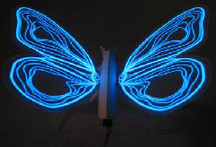 GloWing Blue Neon Butterfly Home Decor Design