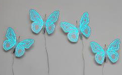 GloWing Blue Neon Butterflies Home Decor Design