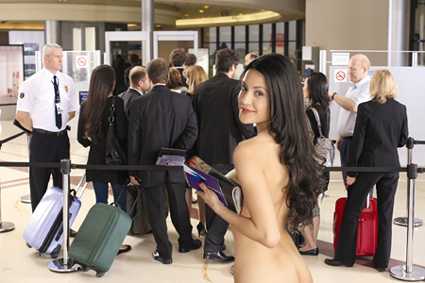 Bluefly Nothing to Wear Ad Naked Woman in Airport