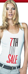Kate Moss in 7th on Sale tank