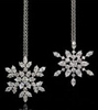 Harry Winston Diamond Snowflake Earrings