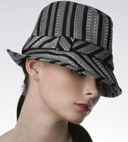 Eugenia Kim Striped Fedora Hat
