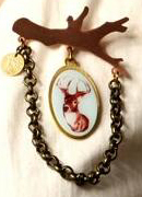 Vice & Vanity Deer Themed Victorian Antique Pin Brooch Fashion Accessories Must Haves