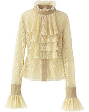 Ruffled High Necked Victorian Blouse Fashion Must Haves