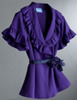 Vera Wang for Kohls Purple Ruffle Blouse Jewel Colors Fashion Must Haves