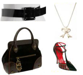 Fashion Must Haves Black Frame Bag T-Strap Pump Patent Leather Belt