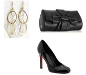 Black Clutch Fashion Accessories