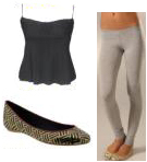 Dove Grey Gray Leggings Cute Flats Must Have Fashion Accessories