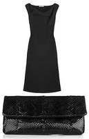 Bottega Veneta Little Black Dress Clutch Purse Fashion Accessories
