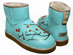 Cindy Crawford Custom Painted Uggs Ugg Australia Celeb Uggs