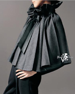 Blanc de Chine Pleated Wool Cape Fall Fashion Must Haves