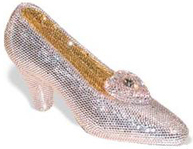 Katherine Baumann Shoe Cinderella's Slipper Crystal Evening Purse Minaudiere