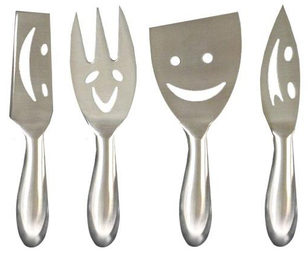 Patina Smiley Cheese Knives Gift Gifts Gift Ideas Kitchen Gadgets