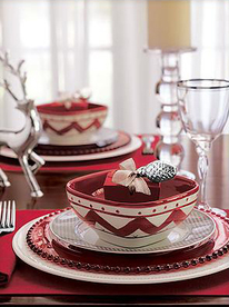 Lavish Decorative Holiday Dinner Party Place Setting