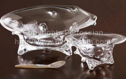Steuben Crystal Caviar Presentoir Luxury Holiday Gift