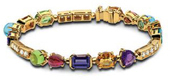 Bulgari Bvlgari Colored Coloured Gemstone Bracelet