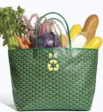 Goyard Green Eco Chic St. Louis Tote Shopper Totebag Purse Bag