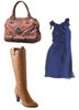 Navy Dress Tall Tan Boots