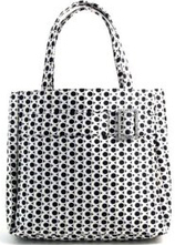 Murval of Paris Satin Print Tote Shopper Totebag Purse Bag