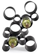 Chiasso Modern Looped Metal Wine Rack Holder