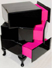 Black & Pink Bedside Table