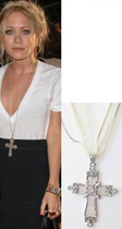 Mary Kate Olsen Cross Necklace