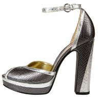 Patricia Field_for Payless Metallic Tempura Platform Sandal Affordable Vegan Fashion Accessories Shoes