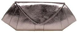 Belen Enchandia Metallic Pewter Clutch Holiday Accessories