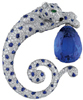 Cartier Sapphire Panther Brooch Luxury Gifts