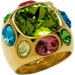 Kenneth Jay Lane Olive Exotic Cocktail Ring