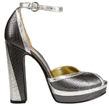 Patricia Field For Payless Metallic Platform Peep Toe Tempura Sandal