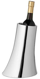 Stylish Karim Rashid Flared Silver Wine Cooler