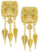 Turkish Jewelry Designers Gold Earrings