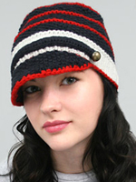 Striped Knit Fishermans Cap Nautical Fashion Accessories
