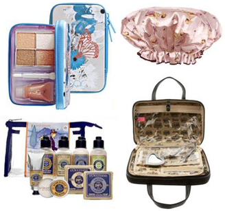 How To Pack Fashionably Light Cute Bathing Shower Cap Travel Makeup Palettes