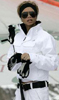 Victoria Beckham White Chanel Ski Bunny Chic Outfit
