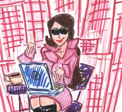 Fashionable Blogger Fashion Blogger Illustration