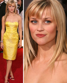 Reese Witherspoon Yellow Dress Nina Ricci Golden Globes