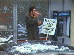 Festivus Kramer Festivus Yes Bagels No