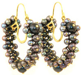 Philip Crangi Black Pearl Earrings