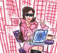 Fashionable Blogger Fashion Blogosphere Illustration
