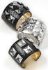 New Years Eve Party Fashion Accessories Ted Rossi Python Studded Cuffs Bracelets