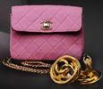 Vintage Pink Quilted Chanel Bag