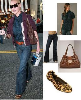 Katherine Heigl Fashion Style Leopard Flats