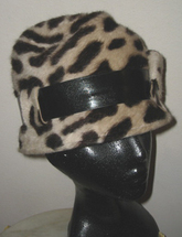 Leopard Print Wool Cloche Hat Handblocked Handmade Fashion Accessories Must Haves