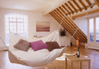 Suspended Hammock Swinging Beanbag Bed Couch